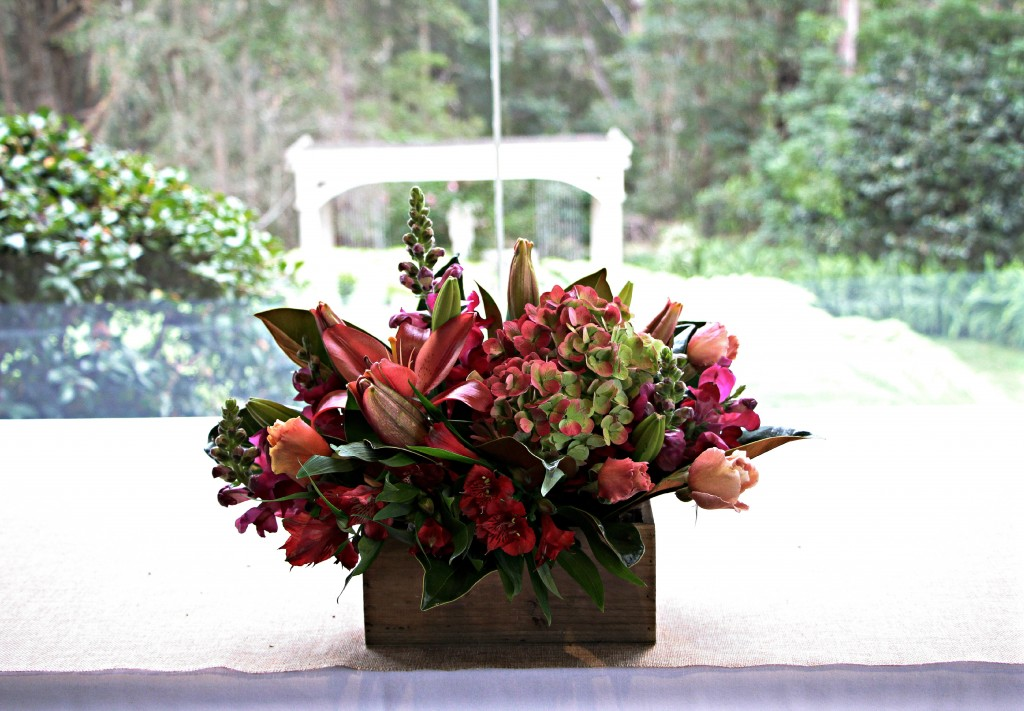boxed arrangement