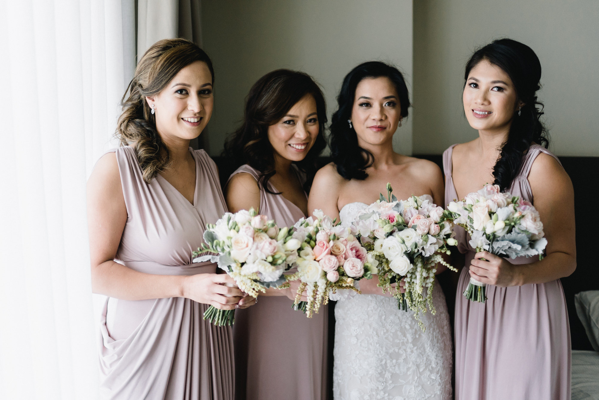 Arlyn with her bridesmaids